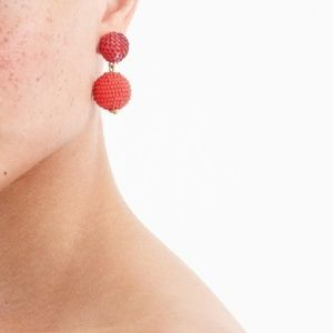 J.Crew Sequin and Bead Ball-drop Earrings
